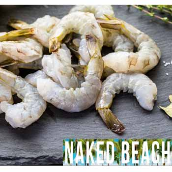 Naked Beach Raw Prawns