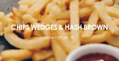 chips wedges hash brown