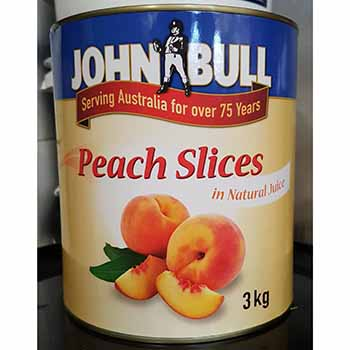 John Bull Sliced Peaches 3kg